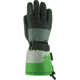 Roeckl Arlberg Ski Gloves Kids black/green